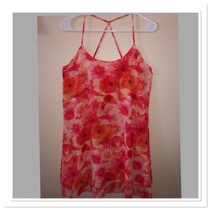 🌺Free flowing Bright flower print mini 👗